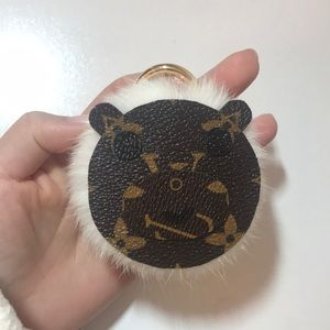 Accessories - Louis Vuitton canvas genuine fur bag charm